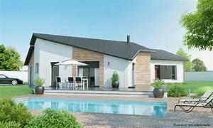 Maison 120m2 Plain Pied : maison plain pied 3 4 chambres construction maison plain pied contemplea design ~ Melissatoandfro.com Idées de Décoration