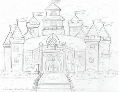Castle Peach Drawing Medieval Getdrawings