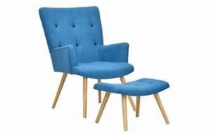Housse Chaise Scandinave : fauteuil scandinave repose pieds bleu canard pi ce vivre ~ Teatrodelosmanantiales.com Idées de Décoration