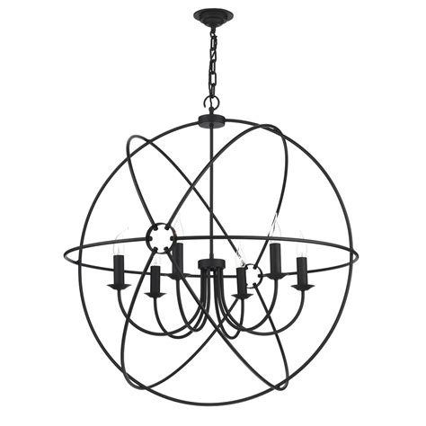 orb 6 light pendant 900mm