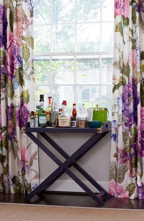 purple dining room  purple campaign bar table