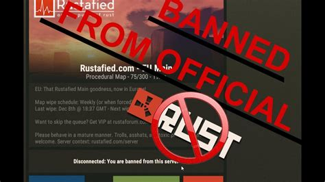 rust banned server official