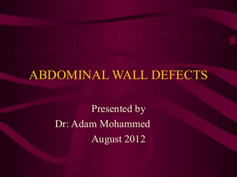 abdominal wall defects