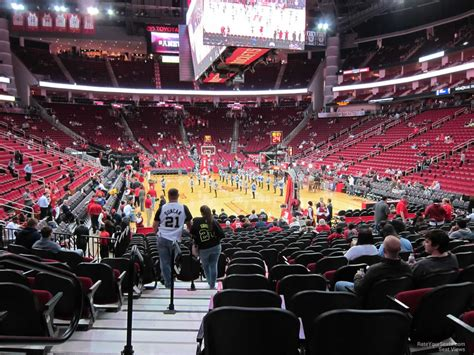 Rockets Tickets Toyota Center by 100 Level Baseline Toyota Center Basketball Seating