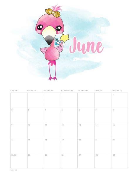 printable  funny flamingo calendar planers