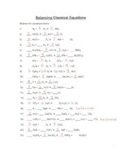 1 the first step in balancing a chemical equation is to count each type of atom in reactants and products. Balancing Chemical Equations Answer Key - Name: Date ...