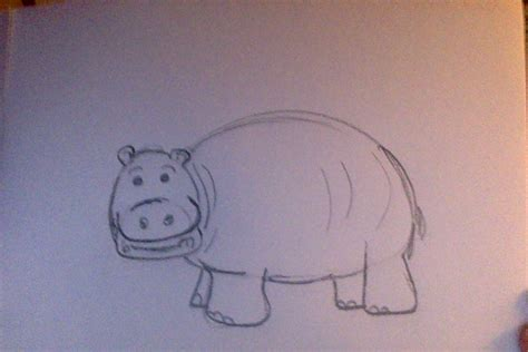 draw  cartoon hippo  steps  pictures wikihow