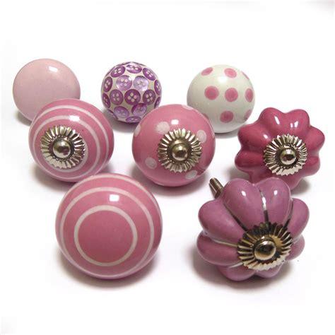 Pushka Knobs Pink Cheap Ceramic Glass Cupboard Door Knobs