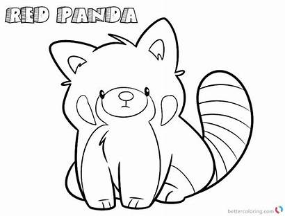 Panda Coloring Pages Cartoon Line Drawing Printable