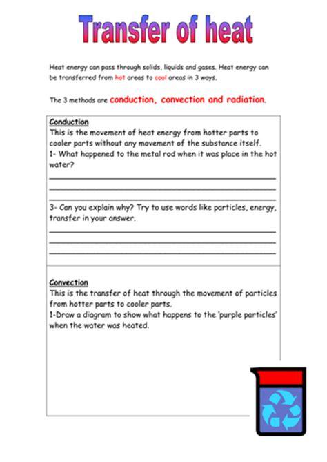 heat energy transfer worksheet  mightyhamster