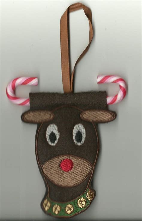 ith reindeer ornament  embroidery designs cute embroidery designs embroidery machine