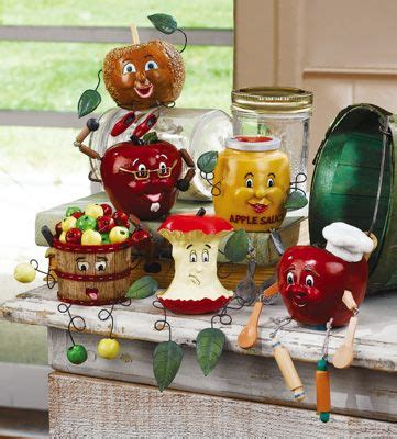 apple decor kitchen sitters figurines kitchen pinterest tías porcelana y cocinas