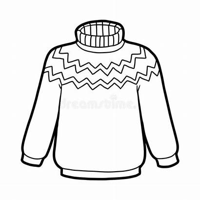 Sweater Coloring Camisola Colorir Winter Clipart Imagens
