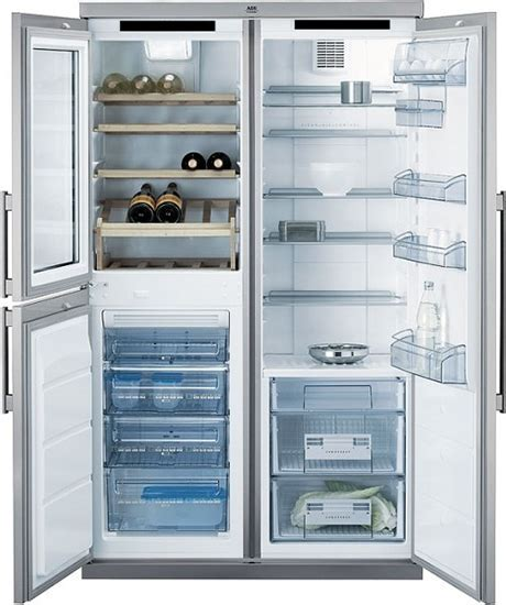 ATAG side by side refrigerator with wine cooler