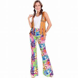 Adult Men Women Halloween 60s 70s Hippie Clothes Ladies ...