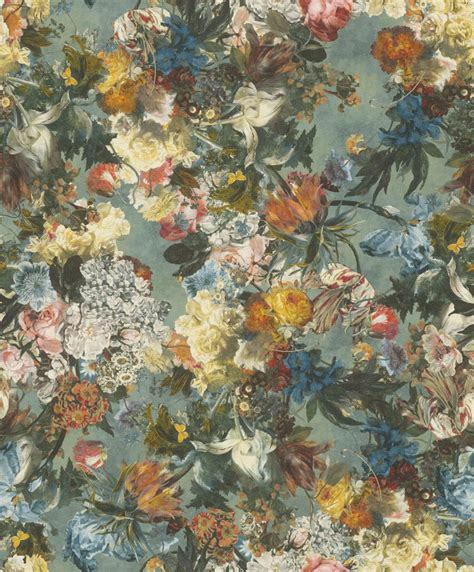 Rasch Tapete Blumen by Vliestapete Rasch Passepartout Blumen Blau Bunt 605655