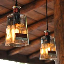 empty kitchen wall ideas recycled 1800 tequila bottle pendant ls the green