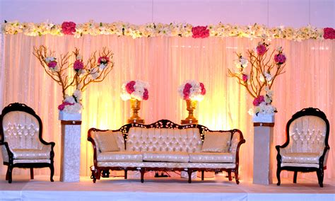 Ceremony backdrop wedding setup Pakistani wedding stage