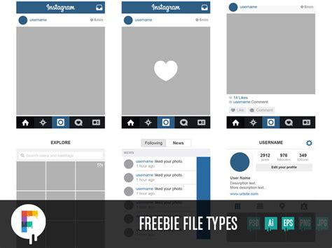 instagram layout 34 free instagram mockup layouts for 2017 psd ui iphone feed