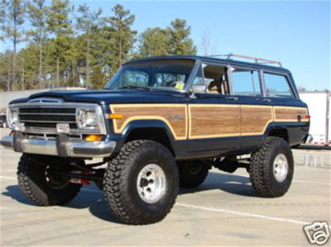 wagoneer jeep lifted grand wagoneer jeep 1990 blue tan lifted explore