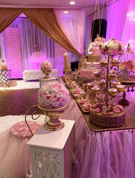 gorgeous pink  gold princess birthday party