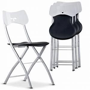 Chaise Pliante Noire : chaise pliante noir et blanc tedy ~ Teatrodelosmanantiales.com Idées de Décoration