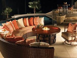 Fire Pit Table // Wicker Central - WickerCentral com