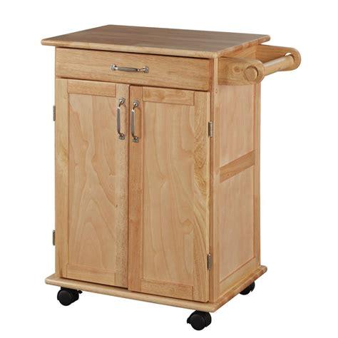 chariot de cuisine home styles chariot de cuisine en bois naturel home depot canada