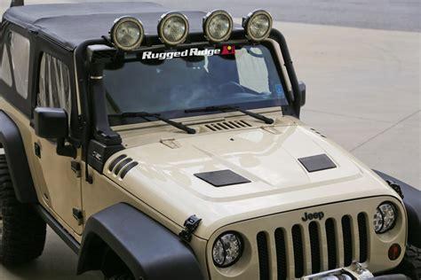 jeep hood rugged ridge 17759 01 performance vented hood for 07 17