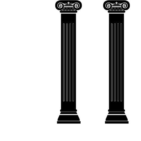 roman columns wall decal