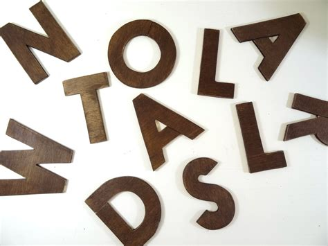 wooden alphabet letters wooden letters size 4 wall decor wooden