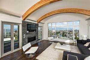 Contemporary Custom Home In Vancouver With Unique Arc Roof