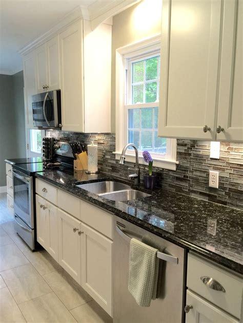 galley kitchen units best 25 black granite countertops ideas on 1179