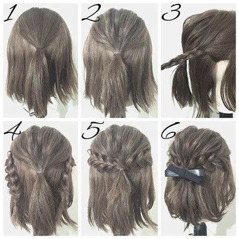ideas  easy short hairstyles  pinterest