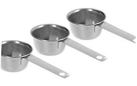 If you're using a coffee scoop, that would be 3Pc COFFEE MEASURING SCOOP 1/8 CUP Stainless Steel   eBay