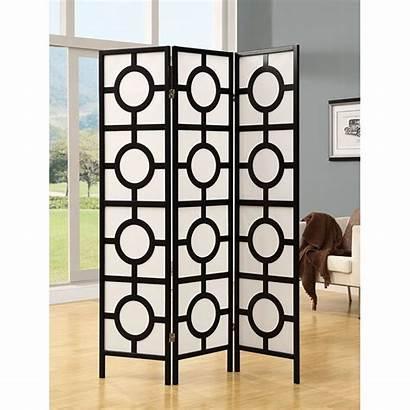 Folding Screen Panel Circle Frame Divider Monarch
