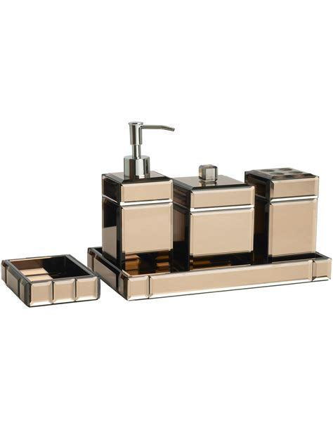 Mirrored Bathroom Accessories by Pied A Terre Brown Mirrored Soap Dish Review Compare