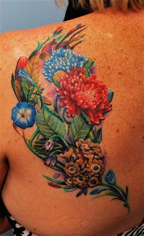 assorted flowers  brighter colors tattoomodels