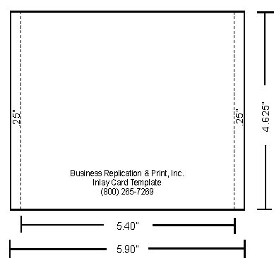 inlay card printing template