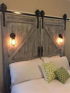 cheap diy home decor projects my daily magazine art With barn door style headboard