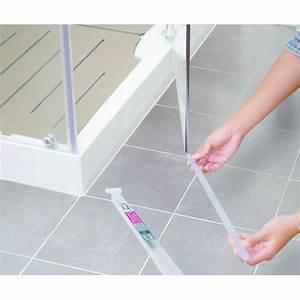 Joint bas pour porte de douche ajustable geb for Joint double levre porte douche