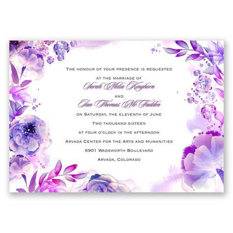 watercolor dream invitation invitations  dawn