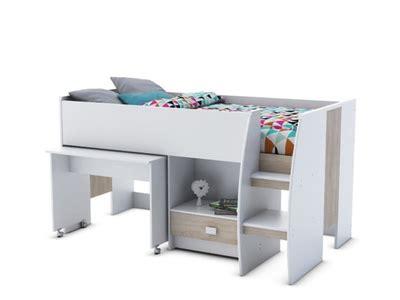 lit superposé combiné bureau lits mezzanine pour enfants et adultes pas chers