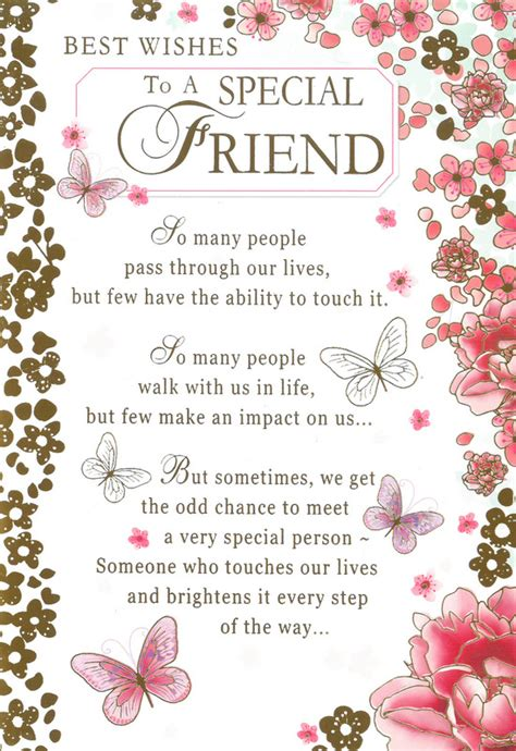Best Wishes To A Friend Card Best Wishes To A Special Friend Cards Greetings