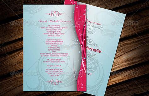 debut invitation templates psd ai vector eps