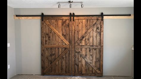 How To Frame A Barn Door by Building Interior Rustic Barn Doors On A Budget Diy How To