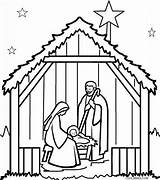 Nativity Coloring Pages Scene Clipartmag sketch template
