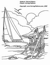 Burning Wood Patterns Carving Printable Pattern Relief Pyrography Coloring Nautical Woodburning Sailboat Beginners Designs Pages Lighthouse Woodworking Projects Fish Simple sketch template
