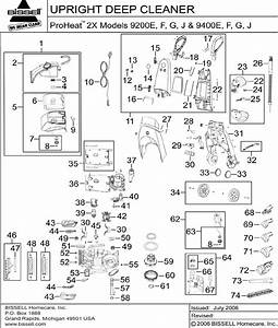 Bissell Proheat 9200e Users Manual Parts Listing 2x