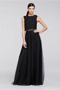 beaded lace and embroidered long dress davids bridal With how to dress up a black dress for a wedding